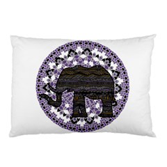Ornate Mandala Elephant  Pillow Case (two Sides) by Valentinaart