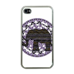 Ornate Mandala Elephant  Apple Iphone 4 Case (clear) by Valentinaart