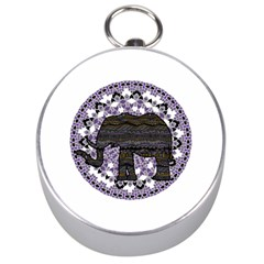 Ornate Mandala Elephant  Silver Compasses by Valentinaart