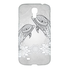 Beautiful Dolphin, Mandala Design Samsung Galaxy S4 I9500/i9505 Hardshell Case by FantasyWorld7