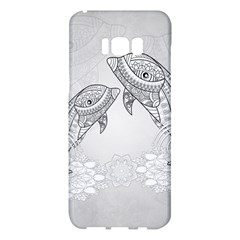 Beautiful Dolphin, Mandala Design Samsung Galaxy S8 Plus Hardshell Case  by FantasyWorld7