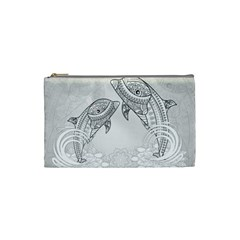 Beautiful Dolphin, Mandala Design Cosmetic Bag (small)  by FantasyWorld7