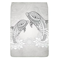 Beautiful Dolphin, Mandala Design Flap Covers (s)  by FantasyWorld7