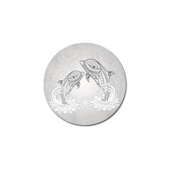 Beautiful Dolphin, Mandala Design Golf Ball Marker (10 Pack) by FantasyWorld7