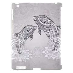 Beautiful Dolphin, Mandala Design Apple Ipad 3/4 Hardshell Case (compatible With Smart Cover) by FantasyWorld7