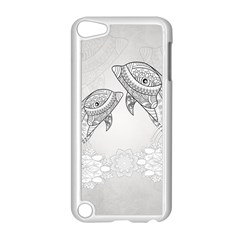 Beautiful Dolphin, Mandala Design Apple Ipod Touch 5 Case (white) by FantasyWorld7