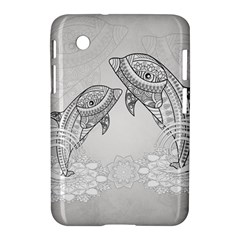 Beautiful Dolphin, Mandala Design Samsung Galaxy Tab 2 (7 ) P3100 Hardshell Case  by FantasyWorld7