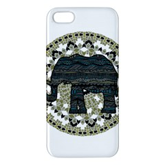 Ornate Mandala Elephant  Iphone 5s/ Se Premium Hardshell Case