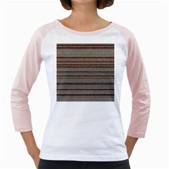 Stripy Knitted Wool Fabric Texture Girly Raglans by BangZart