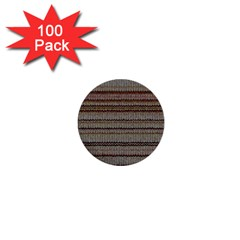Stripy Knitted Wool Fabric Texture 1  Mini Buttons (100 Pack)
