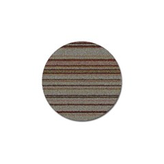 Stripy Knitted Wool Fabric Texture Golf Ball Marker