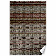 Stripy Knitted Wool Fabric Texture Canvas 12  X 18   by BangZart