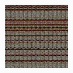 Stripy Knitted Wool Fabric Texture Medium Glasses Cloth (2-side) by BangZart