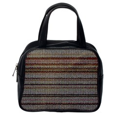 Stripy Knitted Wool Fabric Texture Classic Handbags (one Side) by BangZart