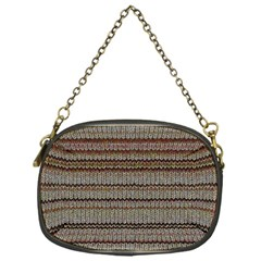 Stripy Knitted Wool Fabric Texture Chain Purses (one Side)  by BangZart