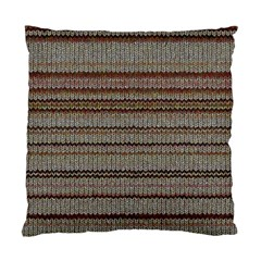 Stripy Knitted Wool Fabric Texture Standard Cushion Case (one Side) by BangZart