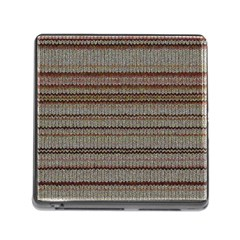 Stripy Knitted Wool Fabric Texture Memory Card Reader (square) by BangZart