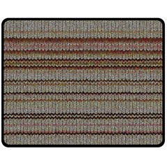 Stripy Knitted Wool Fabric Texture Fleece Blanket (medium)  by BangZart