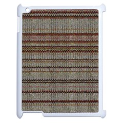 Stripy Knitted Wool Fabric Texture Apple Ipad 2 Case (white)