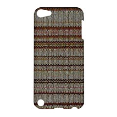 Stripy Knitted Wool Fabric Texture Apple Ipod Touch 5 Hardshell Case