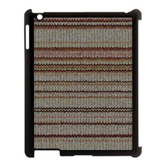 Stripy Knitted Wool Fabric Texture Apple Ipad 3/4 Case (black)