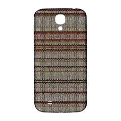 Stripy Knitted Wool Fabric Texture Samsung Galaxy S4 I9500/i9505  Hardshell Back Case