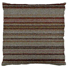 Stripy Knitted Wool Fabric Texture Standard Flano Cushion Case (two Sides)