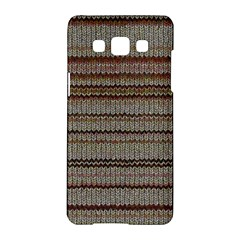 Stripy Knitted Wool Fabric Texture Samsung Galaxy A5 Hardshell Case