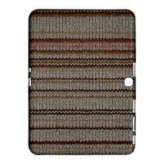 Stripy Knitted Wool Fabric Texture Samsung Galaxy Tab 4 (10 1 ) Hardshell Case  by BangZart