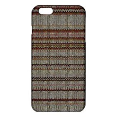 Stripy Knitted Wool Fabric Texture Iphone 6 Plus/6s Plus Tpu Case by BangZart