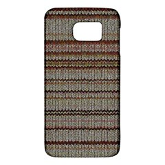 Stripy Knitted Wool Fabric Texture Galaxy S6 by BangZart