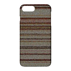 Stripy Knitted Wool Fabric Texture Apple Iphone 7 Plus Hardshell Case by BangZart