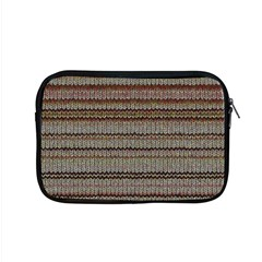 Stripy Knitted Wool Fabric Texture Apple Macbook Pro 15  Zipper Case