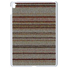 Stripy Knitted Wool Fabric Texture Apple Ipad Pro 9 7   White Seamless Case by BangZart