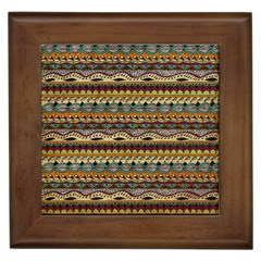 Aztec Pattern Framed Tiles by BangZart