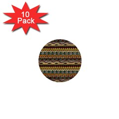 Aztec Pattern 1  Mini Buttons (10 Pack)  by BangZart