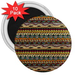 Aztec Pattern 3  Magnets (10 Pack)  by BangZart