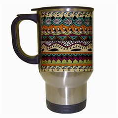 Aztec Pattern Travel Mugs (white) by BangZart