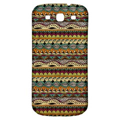 Aztec Pattern Samsung Galaxy S3 S Iii Classic Hardshell Back Case by BangZart