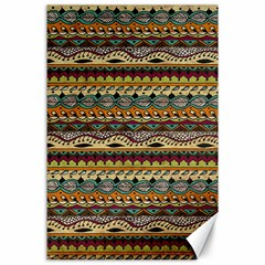 Aztec Pattern Canvas 24  X 36  by BangZart