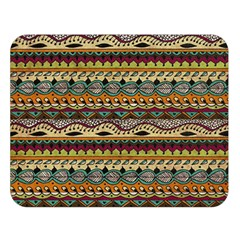 Aztec Pattern Double Sided Flano Blanket (large)  by BangZart