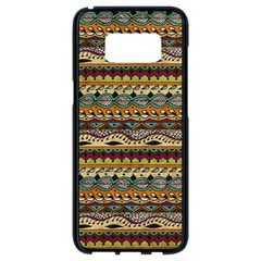 Aztec Pattern Samsung Galaxy S8 Black Seamless Case