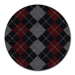 Wool Texture With Great Pattern Round Mousepads by BangZart
