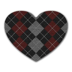 Wool Texture With Great Pattern Heart Mousepads by BangZart