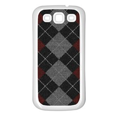 Wool Texture With Great Pattern Samsung Galaxy S3 Back Case (white) by BangZart