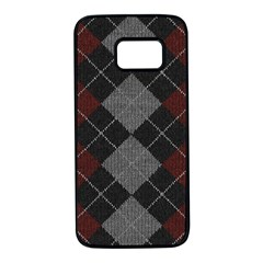 Wool Texture With Great Pattern Samsung Galaxy S7 Black Seamless Case by BangZart