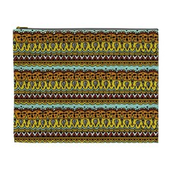 Bohemian Fabric Pattern Cosmetic Bag (xl) by BangZart