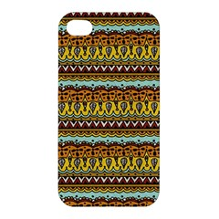 Bohemian Fabric Pattern Apple Iphone 4/4s Premium Hardshell Case by BangZart