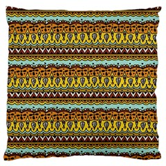 Bohemian Fabric Pattern Large Cushion Case (two Sides) by BangZart