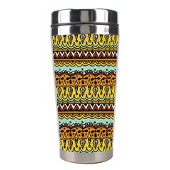 Bohemian Fabric Pattern Stainless Steel Travel Tumblers by BangZart